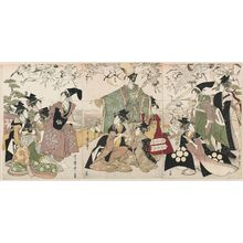 Kitagawa Utamaro: Parody of the Story of Yoritomo Releasing Cranes at Yuigahama - Museum of Fine Arts