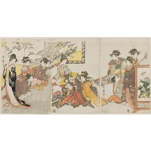 Kitagawa Utamaro: Ladies Performing a Puppet Play of Kagamiyama - Museum of Fine Arts