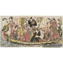 Kitagawa Tsukimaro: Performers of Various Arts Imitating the Seven Gods of Good Fortune in the Treasure Boat (Gei zukushi mitate Takarabune) - Museum of Fine Arts