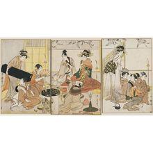 Kitagawa Utamaro: Niwaka Festival Performers in a Yoshiwara Teahouse - Museum of Fine Arts