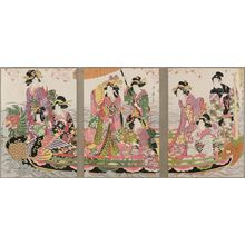Kitagawa Utamaro: A Flower-viewing Party on the Water (Suijô hana no en no zu) - Museum of Fine Arts