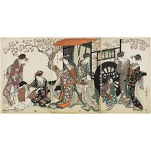 Kitagawa Utamaro: Parody of an Imperial Carriage Scene - Museum of Fine Arts