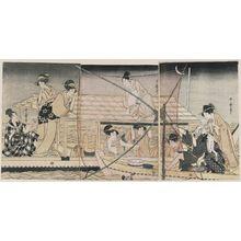 Kitagawa Utamaro: Fishing with a Scoop Net - Museum of Fine Arts