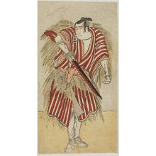 勝川春英: Actor Sawamura Sôjûrô as Hayano Kanpei - ボストン美術館