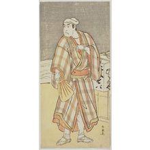 勝川春英: Actor Ichikawa Monnosuke II as Hiranoya - ボストン美術館