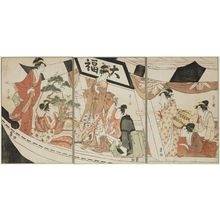 Hosoda Eishi: Party on the Daifuku Pleasure Boat - Museum of Fine Arts