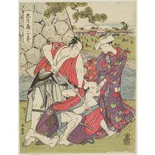 勝川春英: Act III (Sandanme), from the series The Storehouse of Loyal Retainers (Chûshingura) - ボストン美術館