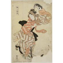 Katsukawa Shun'ei: Harukoma with hobby horse. Series: Oshi Gata (Raised Picture Patterns). - Museum of Fine Arts