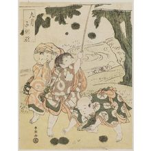Katsukawa Shun'ei: The Ninth Month (Kugatsu), from the series Children at Play (Kodomo asobi) - Museum of Fine Arts