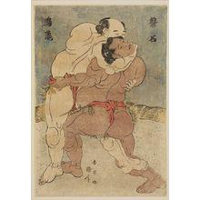 Katsukawa Shun'ei: Wrestlers Banjaku and Narutaki - Museum of Fine Arts