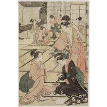 喜多川歌麿: Act XI (Jûichidanme), from the series The Chûshingura Drama Parodied by Famous Beauties: A Set of Twelve Prints (Kômei bijin mitate Chûshingura jûnimai tsuzuki) - ボストン美術館