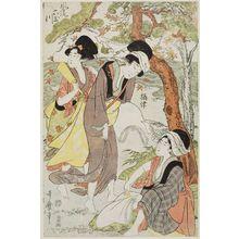 喜多川歌麿: Settsu Province, from the series Fashionable Six Jewel Rivers (Fûryû Mu Tamagawa) - ボストン美術館