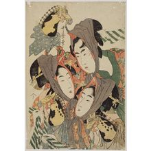 Kitagawa Utamaro: The Spring Pony Dance (Harugoma odori) - Museum of Fine Arts