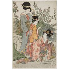 Kitagawa Utamaro: Ômi Province, from the series Fashionable Six Jewel Rivers (Fûryû Mu Tamagawa) - Museum of Fine Arts