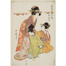 喜多川歌麿: Bun'ya no Yasuhide, from the series Modern Children as the Six Poetic Immortals (Tôsei kodomo rokkasen) - ボストン美術館