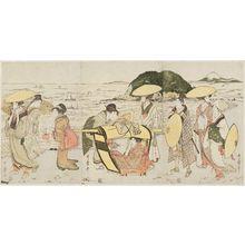 喜多川歌麿: Travelers at Enoshima - ボストン美術館