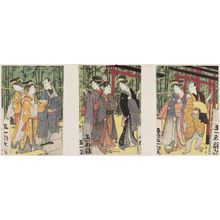 歌川豊国: Actors and Women Visiting an Inari Shrine - ボストン美術館