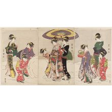 Utagawa Toyokuni I: Women Making a Giant Snowball - Museum of Fine Arts