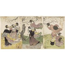 Utagawa Toyokuni I: Cherry Blossoms in the Wind - Museum of Fine Arts