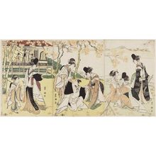 Utagawa Toyokuni I: Parody of Act Four of the play Genpei Nunobiki no Taki - Museum of Fine Arts