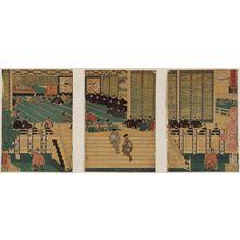 Utagawa Hiroshige II: Lord Yoritomo Goes to Court (Yoritomo kô sandai no zu) - Museum of Fine Arts