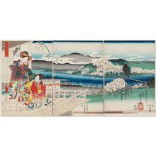 Utagawa Hiroshige: View of Sagano (Sagano fûkei), from the series Fashionable Genji (Fûryû Genji) - Museum of Fine Arts