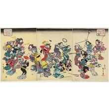 歌川広重: The Ancient Custom of Attacking the Concubine (Ôko uwanari-uchi no zu) - ボストン美術館