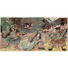 勝川春亭: Fujiwara Hidesato - ボストン美術館