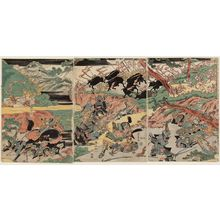 Katsukawa Shuntei: Battle - Museum of Fine Arts