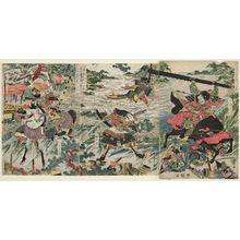 勝川春亭: Zen Taiheiki... Minatogawa kassen - ボストン美術館