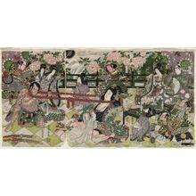 Katsukawa Shuntei: Neck-pulling Contest (Kubihiki) - Museum of Fine Arts