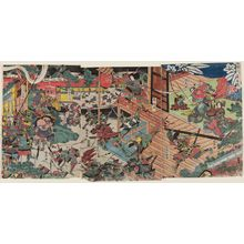 Katsukawa Shuntei: The Night Battle at Horikawa (Horikawa yoru no kassen) - Museum of Fine Arts