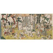 勝川春亭: Vengence (Katakiuchi) - ボストン美術館