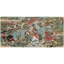 Katsukawa Shuntei: Battle of Kawanakajima? - Museum of Fine Arts