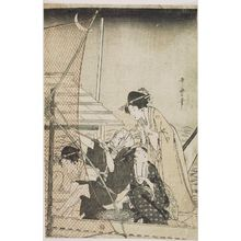 Kitagawa Utamaro: Fishing with a Scoop Net - Museum of Fine Arts