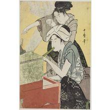 喜多川歌麿: Kitchen Scene - ボストン美術館
