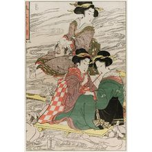Kikugawa Eizan: Crossing the Ôi River - Museum of Fine Arts