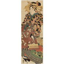 Keisai Eisen: Standing Courtesan - Museum of Fine Arts