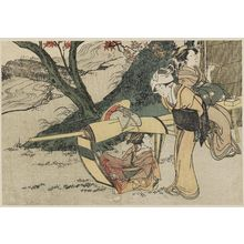 Kitagawa Utamaro: Outing to View Maples in Autumn, from Vol. 2 of the book Ehon shiki no hana (Flowers of the Four Seasons) - Museum of Fine Arts