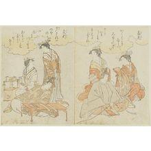 細田栄之: Takamitsu, from the book Yatsushi sanjûrokkasen (Thirty-six Poetic Immortals in Modern Guise) - ボストン美術館