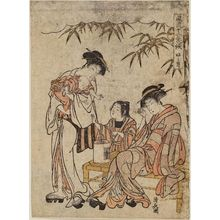 Torii Kiyonaga: The Seventh Month (Fumitsuki), from the series Fashionable Scenes from the Twelve Months (Fûryû jûni kikô) - Museum of Fine Arts