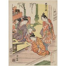 Torii Kiyonaga: The Doll Festival, from the series Twelve Seasons of Playful Children (Gidô jûnikô) - Museum of Fine Arts