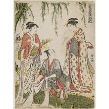 Torii Kiyonaga: Scene at the Jewel River (Michiyuki Tamagawa no dan), from the series The Tale of Shiraishi, a Latter-day Taiheiki (Go-Taiheiki Shiraishi banashi) - Museum of Fine Arts
