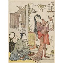 Torii Kiyonaga: Kesa Gozen, from the series Modern Versions of Japanese Beauties (Wakoku bijn ryakushû) - Museum of Fine Arts