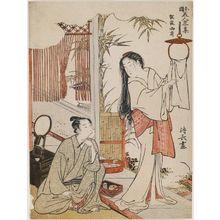 鳥居清長: Kesa Gozen, from the series Modern Versions of Japanese Beauties (Wakoku bijn ryakushû) - ボストン美術館