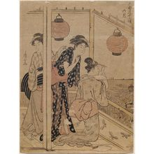 鳥居清長: The Seventh Month (Rokugatsu), from the series Twelve Months in the South (Minami jûni kô) - ボストン美術館
