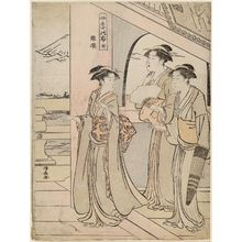 Torii Kiyonaga: The Temple of the Five Hundred Arhats (Rakan), from the series Mount Fuji in the Four Seasons (Shiki no Fuji) - Museum of Fine Arts