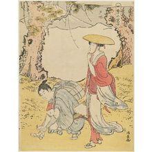 鳥居清長: Totsuka, from the series Mount Fuji in the Four Seasons (Shiki no Fuji) - ボストン美術館