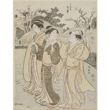 鳥居清長: The Shrine of Hotei at Nippori (Nippori Hotei), from the series Visits to the Shrines of the Seven Lucky Gods in Edo (Edo Shichi Fukujin mairi) - ボストン美術館