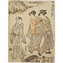 Torii Kiyonaga: Tônosawa, from the series Seven Famous Hot Springs of Hakone (Hakone shichiyu meisho) - Museum of Fine Arts